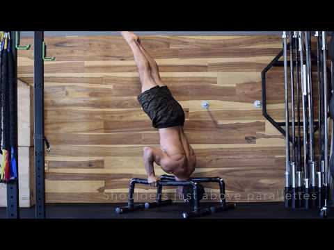 parallette shoulder stand  height performance